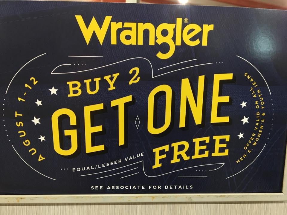 wrangler buy 2 get 1 free
