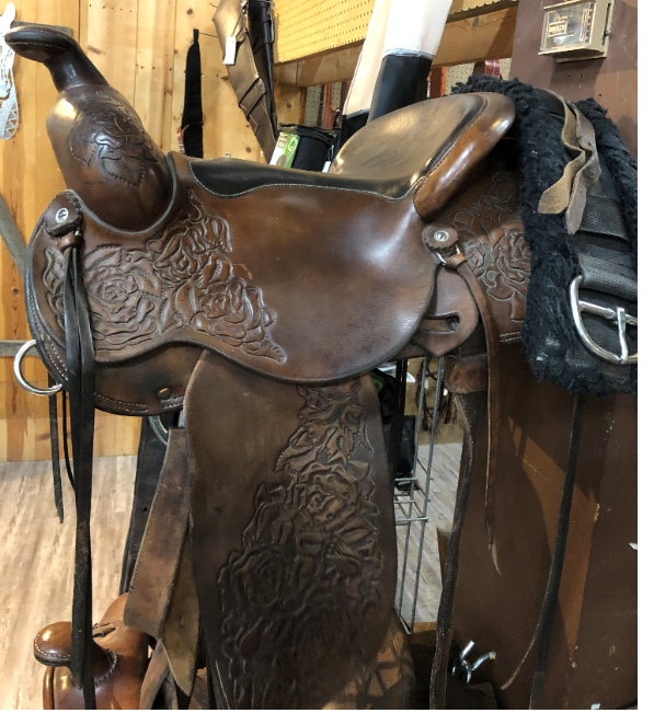 Listed as a Custom Roping Saddle 15 good condition 1